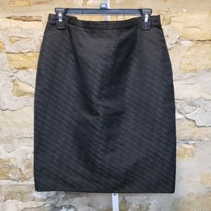 Valentino black chevron design skirt